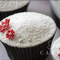 Red and Silver Cupcakes by LadyTangerine