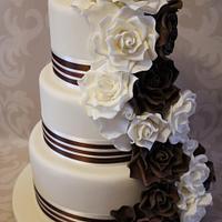 Rose Cascade Wedding Cake.