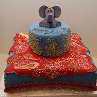 Indian Inspired First Birthday Cake