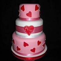 Wedding cake inspired by Peggy Porchan by Shalona Kaneen