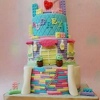 Lego bff and friends cake