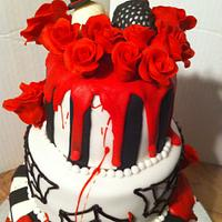 Gothic Wedding Cake by Nikki Belleperche