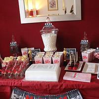 Movie themed dessert table