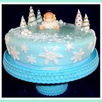 TwinkleBalls Christmas Cake