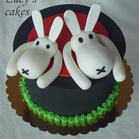 Rabbits out of a hat cake