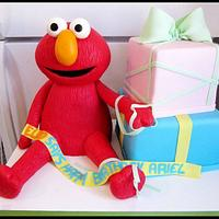 Elmo and presents