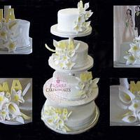 WEDDING CAKE by SUGARScakecupcakes