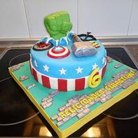 The Avengers cake