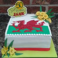 Welsh Dragon and daffodils