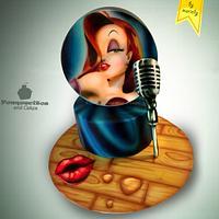 Airbrush Cake: Jessica Rabbit