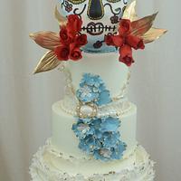 Dia del los Muertos Cake