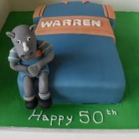 Leeds Rhino cake