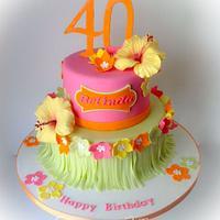 Hawaiian Tropical cake
