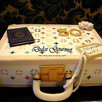 Louis Vuitton suitcase to celebrate a 50th. birthday