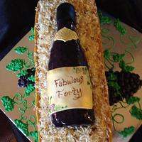 Wine Bottle Cake - Fabulous Forty by beth78148