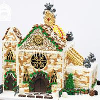 Cathedral style Gingerbread House