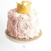 Buttercream Roses Princess Cake