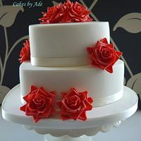 Ruby Wedding Anniversary cake - July 2011 by Cakes by Ade