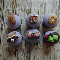 Guardians of the Galaxy cupcakes