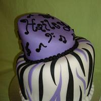 Musical topsy turvy cake