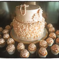 Romantic Belgian Wedding cake
