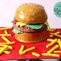 Yum burger cake