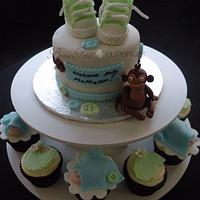 Baby Shoes and Monkey Cake