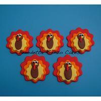 Gobble Gobble Gobble....Turkey Cupcake Toppers