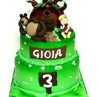 MASHA AND ORSO CAKE!!