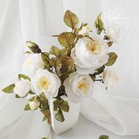 Wafer Paper English Garden Roses