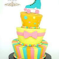 80's Topsy Turvy Cake
