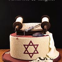 Bar mitzvah mosaic cake