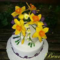 Spring cake for happy birthday to me :)