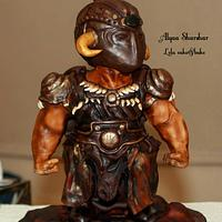Strong fighter cake