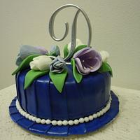 Royal blue and tulips