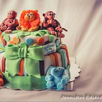Welcome to the Jungle Baby Shower Cake