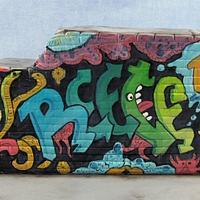 Graffiti Wall Birthday Cake