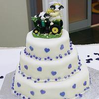 Cute Country Wedding Cake
