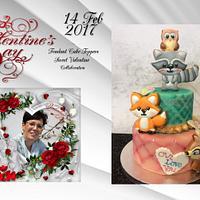 Fondant cake-topper-sweet valentine collaboration 2017