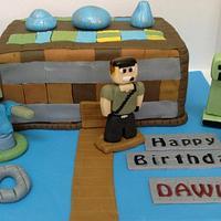10th Birthday Minecraft Birthday Cake