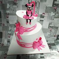 Topsy turvy cake Minnie