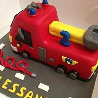 Fire Engine Cake by Eliana