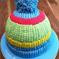 Beanie Bobble Hat Cake