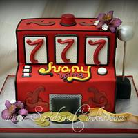 Slot Machine Cake by Sandrascakes
