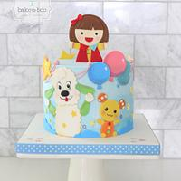 2D japanese cartoon cake design