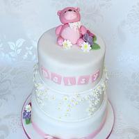 Daisy Christening Cake