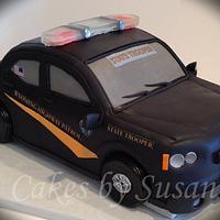 Wyoming Highway Patrol car by Skmaestas