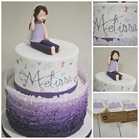 Violetta inspired cake for Melissa's communion