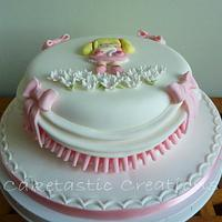 Bas Relief Pink Frills Cake