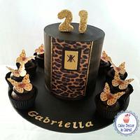 Kardashian Inspired 21st Cake